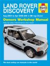 Haynes Workshop Manual Land Rover Discovery Diesel (Aug 04-Apr 09) 04 to 09